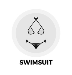 Swimsuit Line Icon vector image