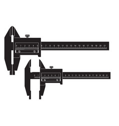 caliper black drawing vector image vector image