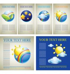 design templates vector image vector image