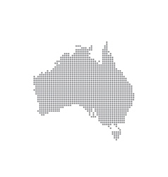 Detailed map of Australia in the dot vector image