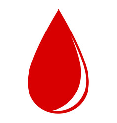 drop of blood on a white background vector image