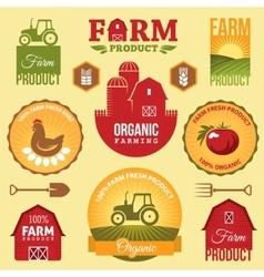 Farm labels vector image vector image