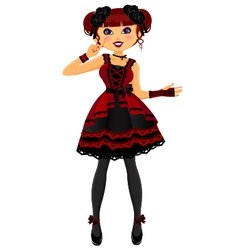 gothic lolita vector image vector image