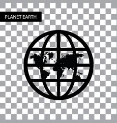 planet earth symbol vector image