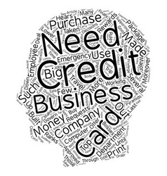 Rewards For Big Jobs The Business Credit Card text vector image