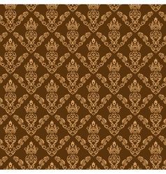 Seamless Damask Wallpaper 2 Cream Color vector image vector image