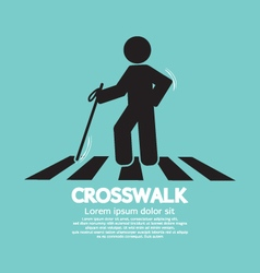 The Blind On The Crosswalk Symbol vector image