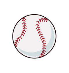 baseball ball sport play equipment image vector image