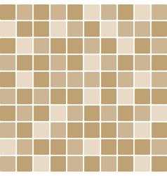 brown tile wall vector image vector image
