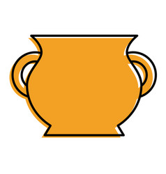 ceramic pot handle empty icon vector image