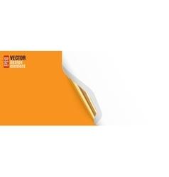 Curled Corner with Orange Background vector image