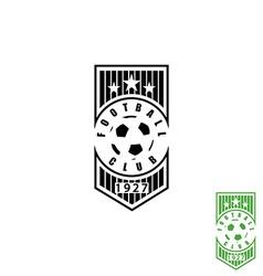 Football club emblem mockup soccer sport logo ball vector image vector image