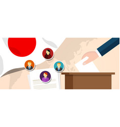 japan democracy political process selecting vector image vector image