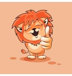 Lion cub thumb up vector