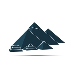 pyramid monument construction Cairo Giza Egypt vector image