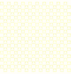 yellow checkered shamrock pattern seamless square vector image vector image