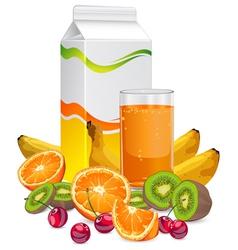 fruit juice cup vector image vector image