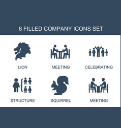 6 company icons vector