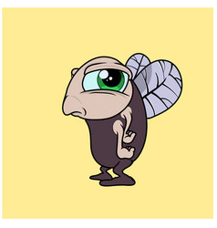 A funny fly character in cartoon style vector