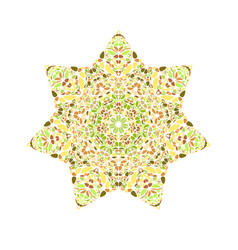 Abstract geometrical isolated flower star symbol vector