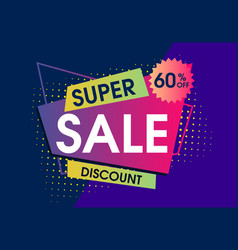 abstract super sale design set vector image