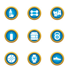 Accordance icons set flat style vector