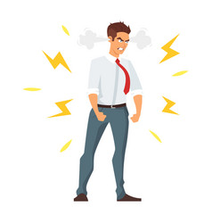 Angry young businessman vector