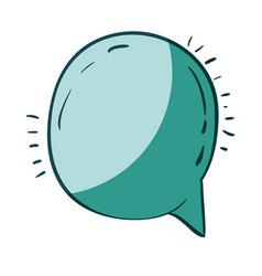 Aquamarine hand drawn of round speech vector