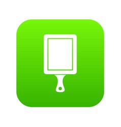 Black cutting board icon digital green vector