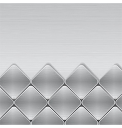 brushed metal mosaic background vector image