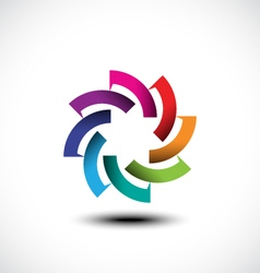 business abstract icon vector image