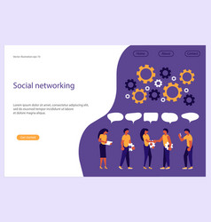 business people social networking vector image