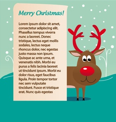Christmas deer rudolf vector