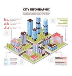 City infographic poster isometric vector