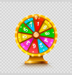 Colorful fortune wheel transparent background vector