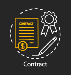 Contract chalk icon legal agreement formal vector