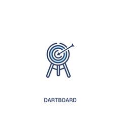Dartboard concept 2 colored icon simple line vector