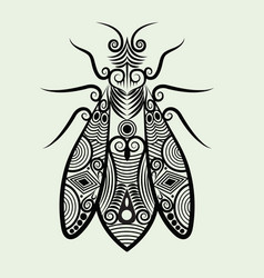 Decorative bee vector