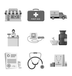 design of pharmacy and hospital symbol vector image