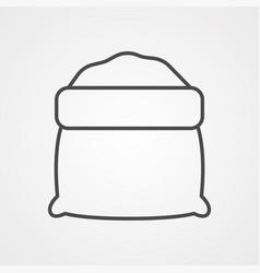 flour icon sign symbol vector image