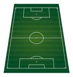 Football field perspactive isolated vector