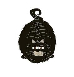 Funny Cute Fat Cat vector