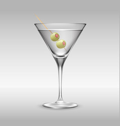 Glass of martini vector