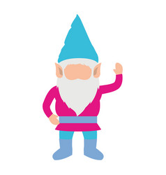 gnome without face and colorful costume and vector image