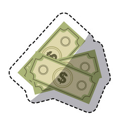 Green bills dollars currency vector