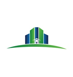 Green building real estate logo vector