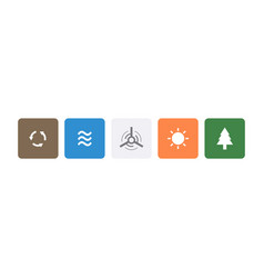 green energy symbol icons vector image