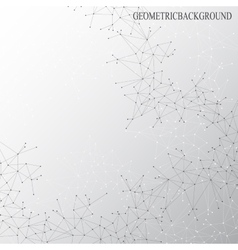 Grey graphic background dots with connections for vector image