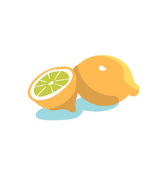 Hand drawn lemon vector
