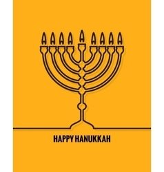Hanukkah Candles Line design Background vector image